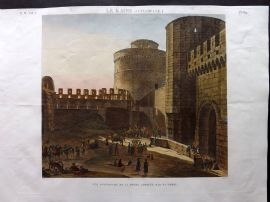 Description de l'Egypte C1820 HCol Print. Porte Appelee Bab el Gebel Cairo Egypt